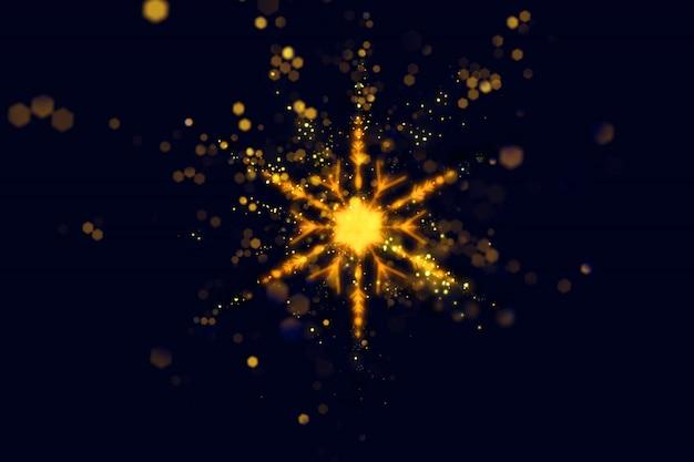 輝きスノーフレークデザインとクリスマスの背景