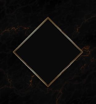 黒のテクスチャ背景にゴールドフレーム