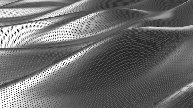 Серебряная ткань абстрактный фон