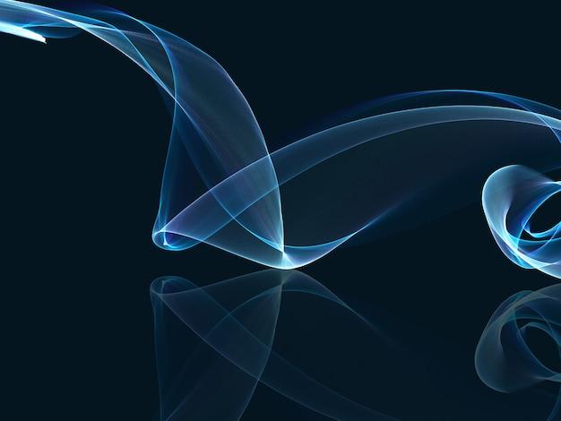 流れるようなラインと抽象的な流れの背景