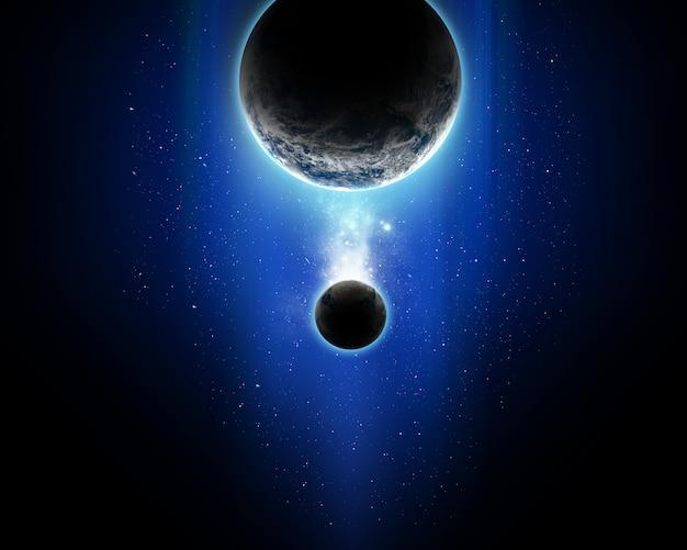 Абстрактная космическая сцена