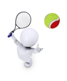 Человек возвращения мяча в матче теннисного