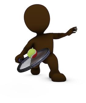 Вернувшись мяч в теннисном матче