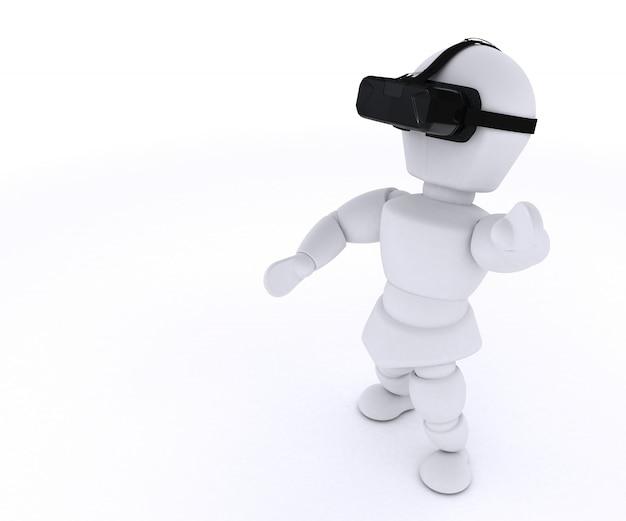 仮想現実メガネとの楽しみを有する者