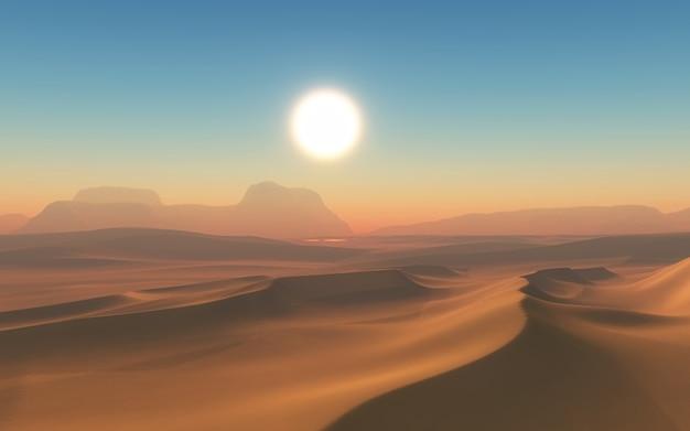 砂漠での晴れた日