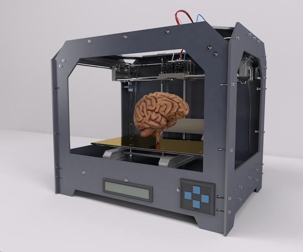 人間の脳を印刷