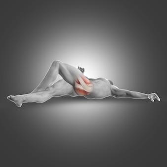 臀部の筋肉をストレッチ