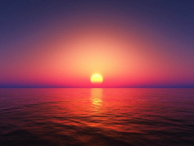 美しいカラフルな夕日