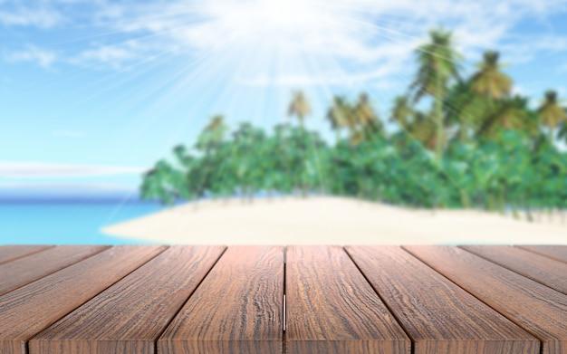 晴れた日の木製の板
