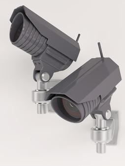 異なる位置に防犯カメラ