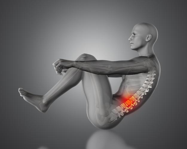 脊椎痛を持つ男