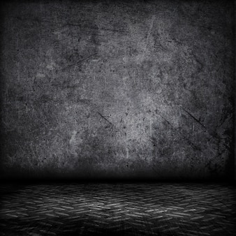 金属板の床のインテリアグランジスタイル