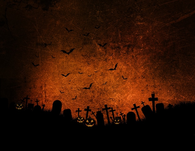 Хэллоуин фон с темно-гранж эффект