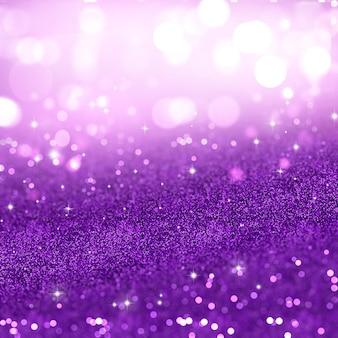 紫色のきらめきのクリスマスの背景