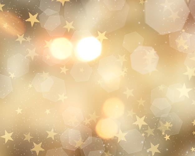 Золотой рождественский фон