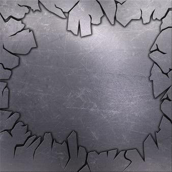 スクラッチされたグランジ金属の背景