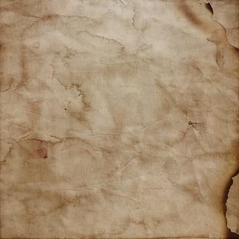 グランジスタイルの燃える紙の背景
