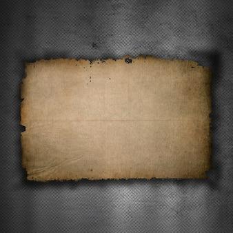 Металлический фон со старой текстурой бумаги гранж