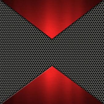 Абстрактный фон с металлическими текстурами