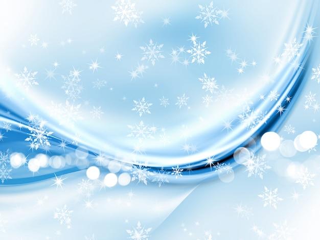 抽象的なクリスマスの雪片