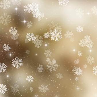 ゴールデンクリスマスの背景