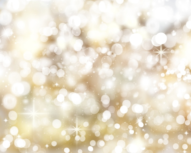 ゴールデンクリスマスライト背景