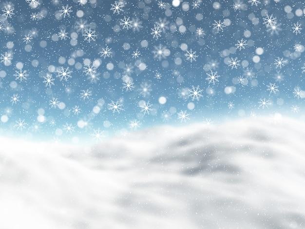 Снежный зимний пейзаж