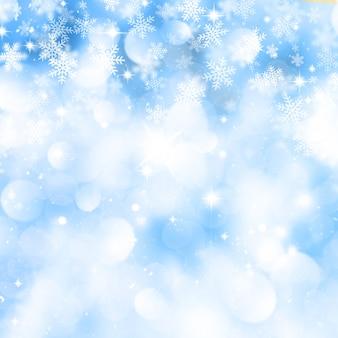 クリスマスの雪の結晶の背景