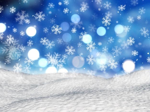 クリスマスの雪の背景