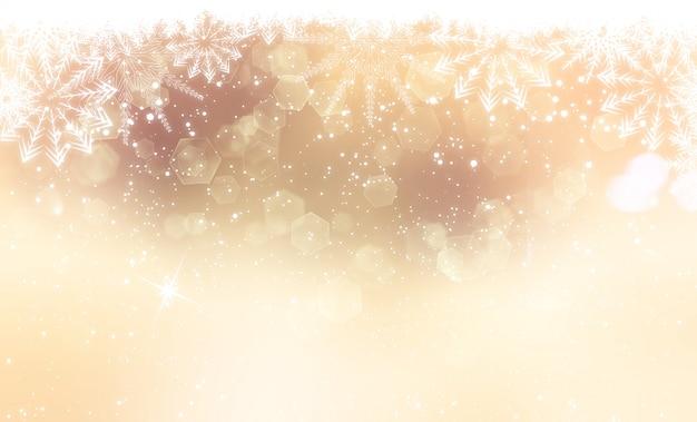 ゴールドクリスマスの背景