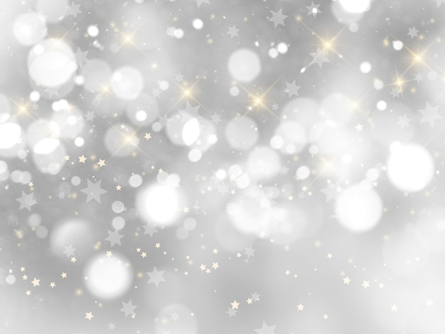 Серебряный новогодний фон