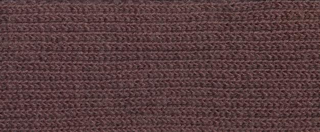 太い茶色の糸の生地の質感