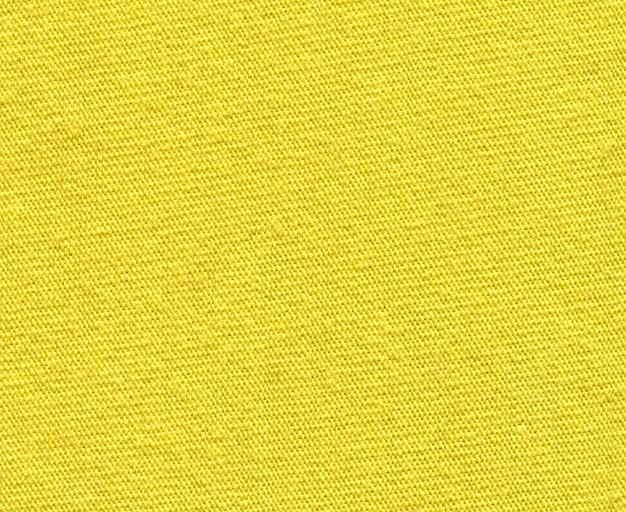 Желтая текстура ткани тонкая нить
