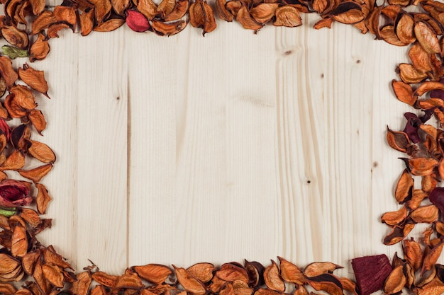 Осенняя рамка пуста для записи