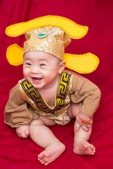 中国のコスプレの衣装王のアジアの赤ちゃん