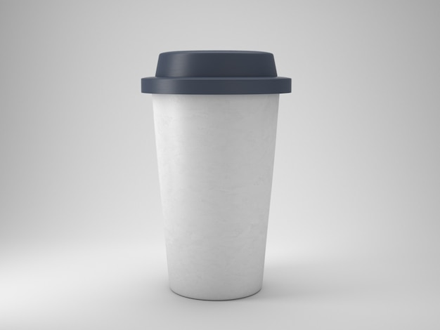 Уберите пластиковую кофейную чашку