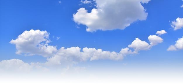 白は青い空に