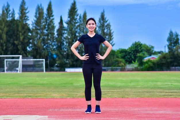 美容アジア女性運動体にフィットトレーニング
