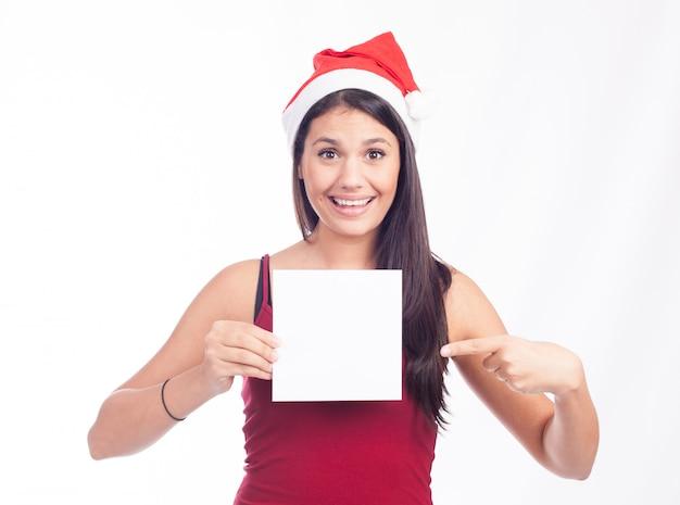クリスマス空白記号女性