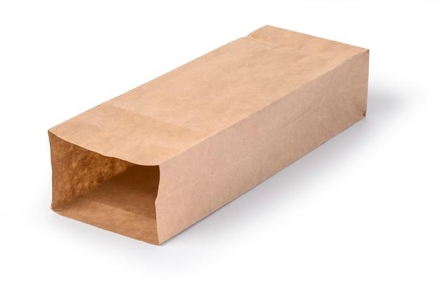 Коричневый бумажный пакет изолирован
