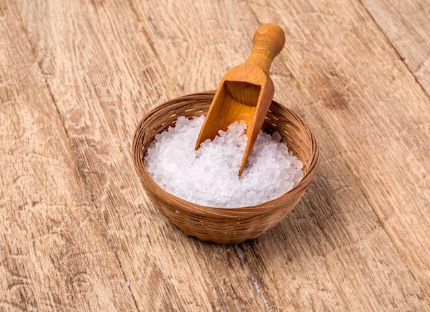 木製の海塩