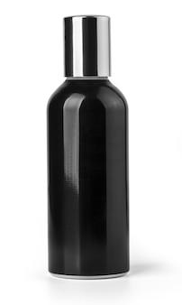 Черная косметическая бутылка