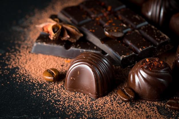 Ассортимент шоколада