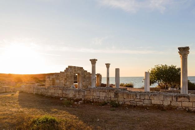 Руины херсонесской базилики