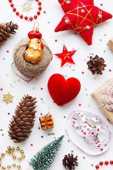 装飾クリスマスの背景。