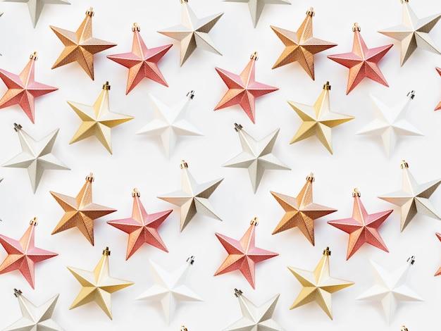 装飾的な星とのシームレスなパターン