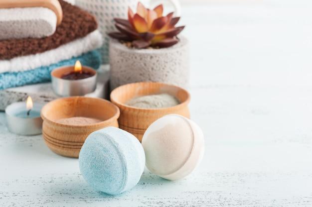 バスボムとモロッコ粘土粉