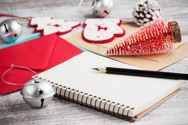 新年の決議のための空のメモ帳