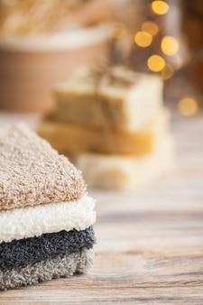スパタオルと石鹸