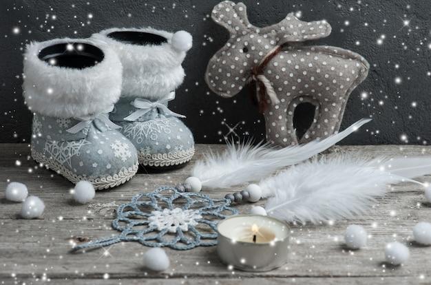 シルバーのクリスマスデコレーション、ドリームキャッチャー